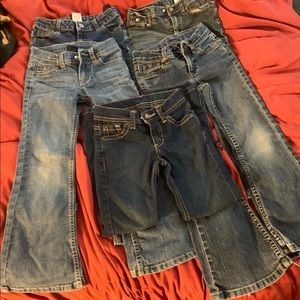 5 pair of girls 6X Faded Glory blue jeans